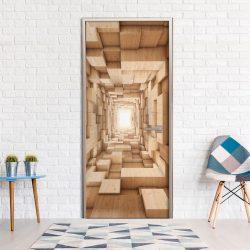 Fotótapéta ajtóra - Wooden Tunnel