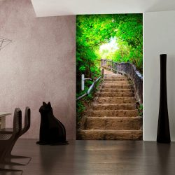 Fotótapéta ajtóra - Photo wallpaper – Stairs from nature I