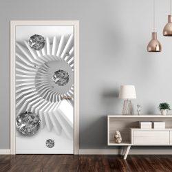 Fotótapéta ajtóra - Photo wallpaper - Black and white abstraction I
