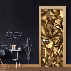 Fotótapéta ajtóra - Photo wallpaper - Golden Geometry I