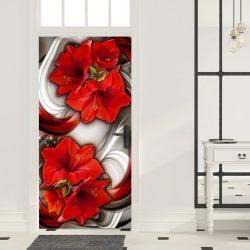 Fotótapéta ajtóra - Photo wallpaper - Abstraction and red flowers I