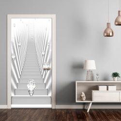 Fotótapéta ajtóra - Photo wallpaper - White stairs and jewels I