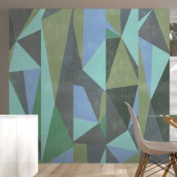 Fotótapéta - Gray triangles