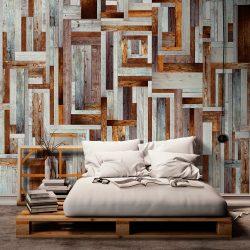 Fotótapéta - Labyrinth of wooden planks