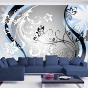 Fotótapéta - Art-flowers (blue)