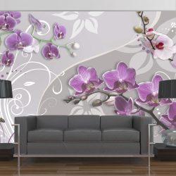 Fotótapéta - Flight of purple orchids