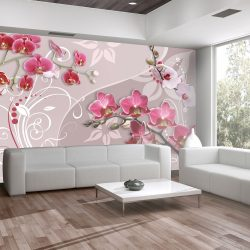 Fotótapéta - Flight of pink orchids