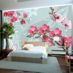 Fotótapéta - Pink orchids - variation II