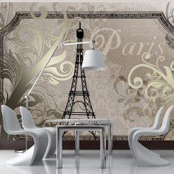 Fotótapéta - Vintage Paris - gold