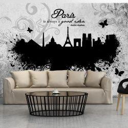Fotótapéta - Paris is always a good idea - black and white