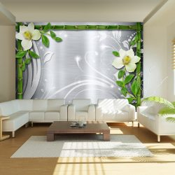 Fotótapéta - Bamboo and two orchids