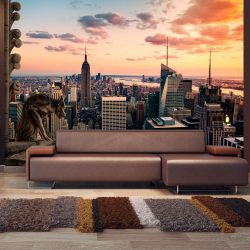 Fotótapéta - New York: The skyscrapers and sunset