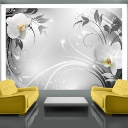 Fotótapéta - Orchids on silver