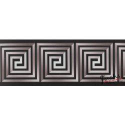 Szürke-fekete görög mintás öntapadó bordűr