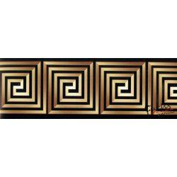 Barna-fekete görög mintás öntapadós bordűr