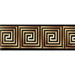 Barna-fekete görög mintás öntapadó bordűr
