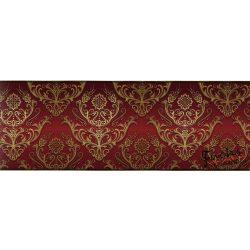 Bordó-arany barokk mintás öntapadós bordűr