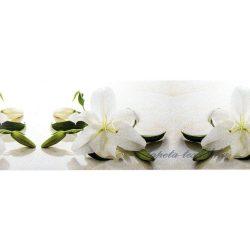 Fehér orchidea öntapadós bordűr