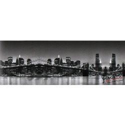 Brooklyn Bridge feketében öntapadós bordűr