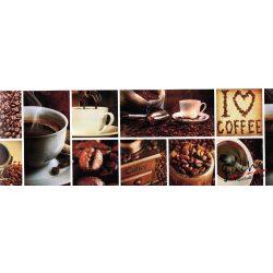 Kávészemek öntapadós bordűr