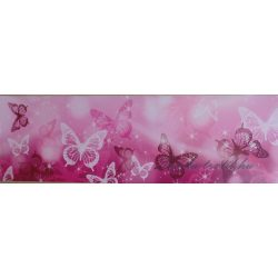 Rózsaszín pillangók öntapadós bordűr