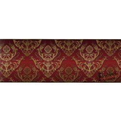 Bordó-arany barokk mintás öntapadó bordűr