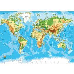 Világ térkép fotótapéta több méretben, alapanyagban