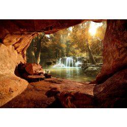 Barlang és vízesés fotótapéta több méretben, alapanyagban