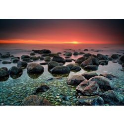 Naplemente Kavicsos tengerpart fotótapéta több méretben, alapanyagban