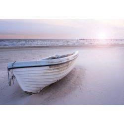 csónak a tengerparton fotótapéta több méretben, alapanyagban