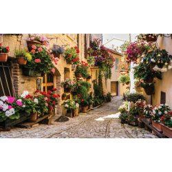 Virágos utca fotótapéta több méretben, alapanyagban