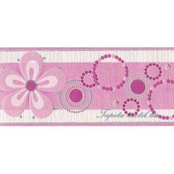 Rózsaszín gyöngyös bordűr