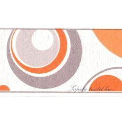 Narancs -szürke körök fehér alapon bordűr