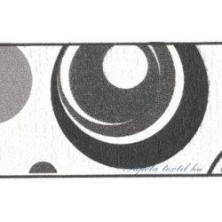 Fekete-szürke körök fehér alapon bordűr