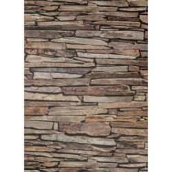 Barna kő mintás  tapéta