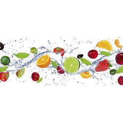FRUITS IN WATER fotótapéta, poszter, vlies alapanyag, 375x150 cm