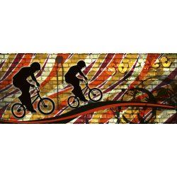 BICYCLE RED fotótapéta, poszter, vlies alapanyag, 375x150 cm
