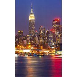 MANHATTAN AT NIGHT fotótapéta, poszter, vlies alapanyag, 150x250 cm