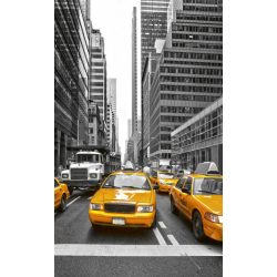 YELLOW TAXI fotótapéta, poszter, vlies alapanyag, 150x250 cm