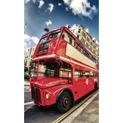 DOUBLE DECKER BUS fotótapéta, poszter, vlies alapanyag, 150x250 cm