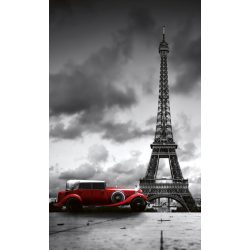 RETRO CAR IN PARIS fotótapéta, poszter, vlies alapanyag, 150x250 cm