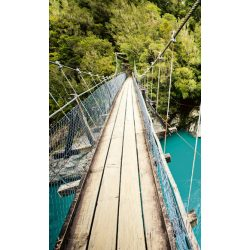 WOODEN BRIDGE fotótapéta, poszter, vlies alapanyag, 150x250 cm
