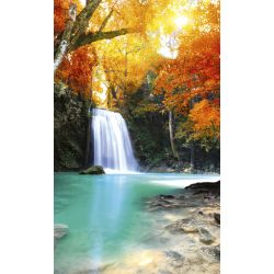 DEEP FOREST WATERFALL fotótapéta, poszter, vlies alapanyag, 150x250 cm