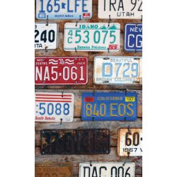 PLATE NUMBERS fotótapéta, poszter, vlies alapanyag, 150x250 cm