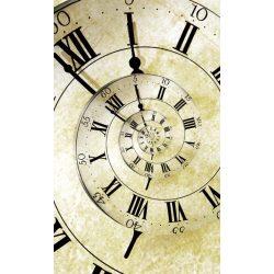 SPIRAL CLOCK fotótapéta, poszter, vlies alapanyag, 150x250 cm