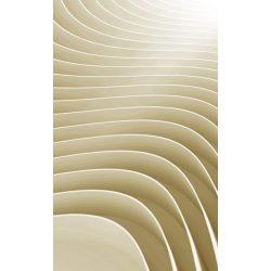 BEIGE RIPPLE fotótapéta, poszter, vlies alapanyag, 150x250 cm