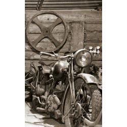VINTAGE GARAGE fotótapéta, poszter, vlies alapanyag, 150x250 cm