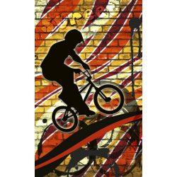 BICYCLE RED fotótapéta, poszter, vlies alapanyag, 150x250 cm