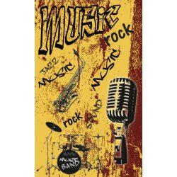 MUSIC ORANGE fotótapéta, poszter, vlies alapanyag, 150x250 cm