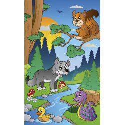 FOREST ANIMALS fotótapéta, poszter, vlies alapanyag, 150x250 cm